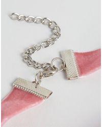 ASOS - Multicolor Velvet Pearl Choker Necklace - Lyst