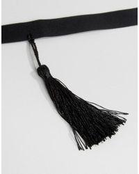 ASOS - Black Tassel Choker Necklace - Lyst