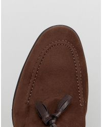 ASOS - Asos Loafers In Brown Faux Suede With Tassel for Men - Lyst