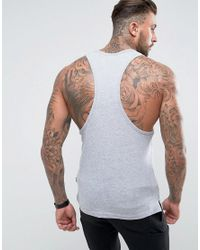 Nicce London - Nicce Tank In Gray With Tri Color Logo for Men - Lyst