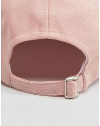 ASOS - Pink Plain Baseball Cap With New Fit - Lyst