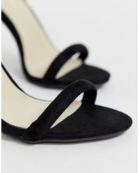 Glamorous Black Barely There Heels