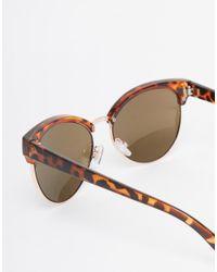 Warehouse | Brown Tortoise Shell Cat Eye Sunglasses | Lyst