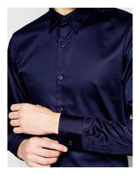 SELECTED - Blue Formal Shirt In Egyptian Cotton In Slim Fit for Men - Lyst