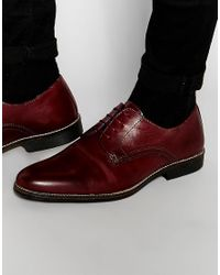 Red Tape - Blue Lace Up Shoes In Burgundy Leather for Men - Lyst