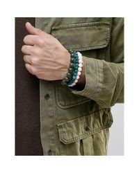 ASOS - Blue Beaded Bracelet Pack With Turquoise - Multi for Men - Lyst