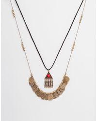 Ashiana | Metallic Shiana Double Row Necklace | Lyst