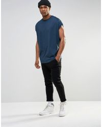 ASOS - Super Oversized T-shirt In Blue - Cadet Blue for Men - Lyst