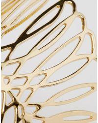 ASOS - Metallic Wing Cuff Bracelet - Lyst