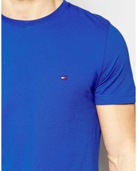 Tommy Hilfiger - Blue T-shirt With Flag Logo for Men - Lyst