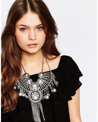 New Look | Metallic Coin Necklace | Lyst