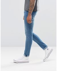 Cheap Monday | Jean Tight Skinny Fit Whispy Blue Wash for Men | Lyst