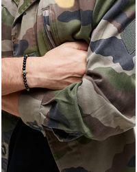 Mister - Black Annum Onyx & Gold Beaded Bracelet for Men - Lyst