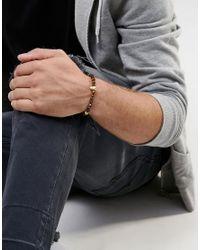Mister - Brown Annum Tigers Eye & Gold Beaded Bracelet for Men - Lyst