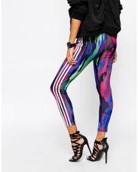 Adidas Originals - Multicolor Originals Pharrell Williams 3 Stripe Leggings In Retro Camo Print - Lyst