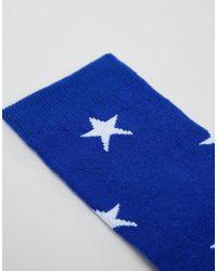 Leg Avenue - Blue Stars And Stripes Knee High Socks - Lyst