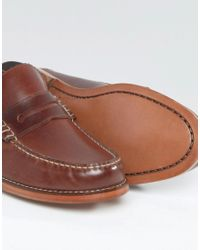 GRENSON - Brown Ashley Leather Penny Loafer for Men - Lyst