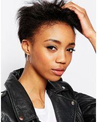 ASOS | Metallic Two Pack Simple Hoop Earrings | Lyst