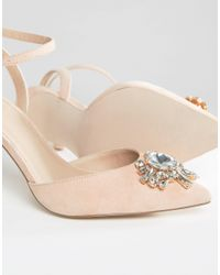 ASOS - Multicolor Society Wide Fit Embellished Heels - Lyst