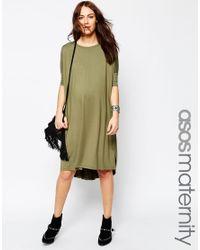 ASOS - Midi T Shirt Dress - Green - Lyst