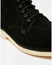 Kickers - Black Legendary Suede Boots for Men - Lyst