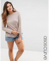 ASOS | Natural Crew Neck Jumper | Lyst