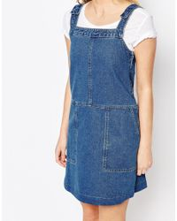 Oasis - Blue Asis Patch Pocket Dungaree Dress - Lyst