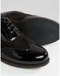 London Rebel - Black Barnaby Brogues - Lyst