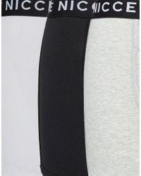 Nicce London - White Trunks 3 Pack In Multi for Men - Lyst