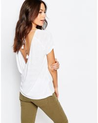 Esprit - White Wrap Back Stripe Top - Lyst