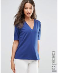ASOS | White The Ponte Top With V-neck Detail | Lyst