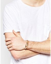 ASOS - Double Wrap Bracelet In Brown Leather - Brown for Men - Lyst
