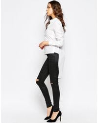 Y.A.S - White Tailored Shirt With Stepped Hem - Lyst