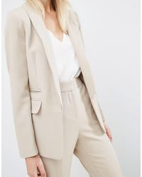ASOS - Natural Tailored Edge To Edge Blazer - Lyst