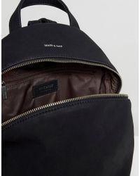 Matt & Nat - Aries Black Faux Suede Backpack - Lyst