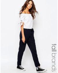 New Look - Blue Linen Pant - Navy - Lyst