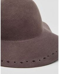 Hat Attack - Gray Felt Floppy With Perforated Edge - Lyst