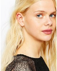 ASOS - White Pack Of 2 Simple Pearl Anywhere Ear Cuffs - Lyst