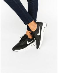 Nike   Air Max Thea Trainers In Black And White   Lyst