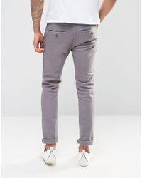 Firetrap - Gray Slim Fit Chino Trouser for Men - Lyst
