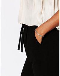 Pilgrim - Metallic Gold Plated Plaited Thread Bracelet - Lyst