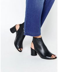 KG by Kurt Geiger | Kg By Kurt Geiger Raw Black Peep Toe Shoe Boots | Lyst