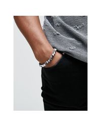 Seven London - Multicolor Marbled Beaded Bracelet Exclusive To Asos for Men - Lyst