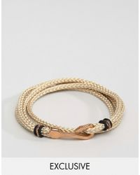 Seven London - Multicolor Hook Bracelet In Cream Exclusive To Asos for Men - Lyst