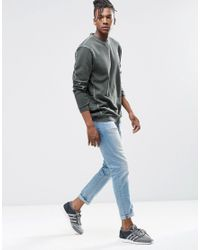 Adidas Originals Gray Street Modern Crew Sweatshirt Ay9204 for men