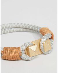 Icon Brand - Brown Rope Bracelet In Grey for Men - Lyst