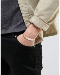 Icon Brand - Metallic Premium Bangle Bracelet In Gold - Gold for Men - Lyst