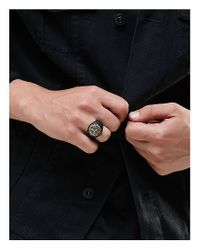 Icon Brand - Chunky Ring In Black for Men - Lyst