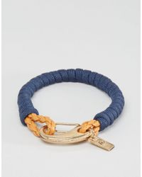 Icon Brand - Blue Rope Clasp Bracelet In Navy for Men - Lyst