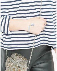 Pilgrim - Beaded Tassel Friendship Bracelet - Blue - Lyst